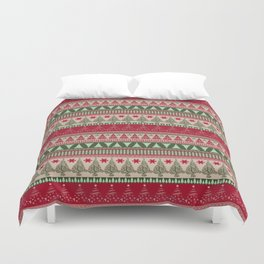 Pine Tree Ugly Sweater Duvet Cover