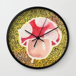 One Upper Mushroom zendoodle Wall Clock