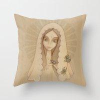 santa Throw Pillows featuring Santa by Juliana Fusco