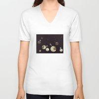 universe V-neck T-shirts featuring Universe by Matthias Leutwyler