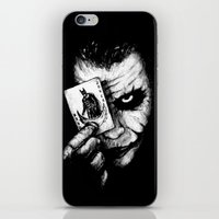 the joker iPhone & iPod Skins featuring Joker by NickHarriganArtwork