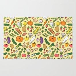 Veggie Friends Doodle Rug