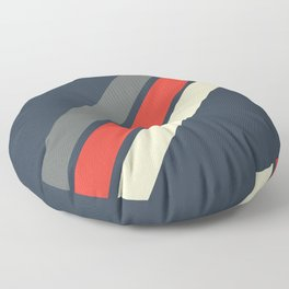 3 Retro Stripes #4 Floor Pillow