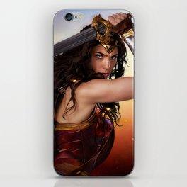 Diana as WonderWoman iPhone Skin