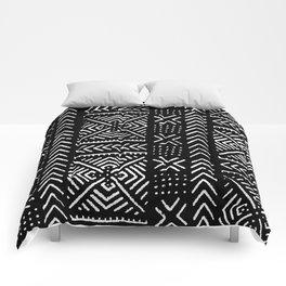 Line Mud Cloth // Black Comforters