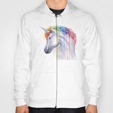 Rainbow Unicorn Watercolor Animal Magical Whimsical Animals Hoody