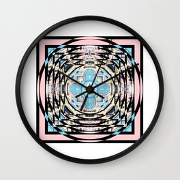 Perspective Aperture, Intersecting Pattern Wall Clock
