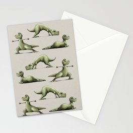 Yogasaurs (Sand) Stationery Cards