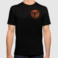 The Cube 5 Black Mens Fitted Tee MEDIUM