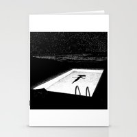 apollonia Stationery Cards featuring asc 593 - Le silence des cigales (The midnight lights) by From Apollonia with Love
