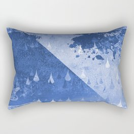 Abstract Blue Rain Drops Design Rectangular Pillow