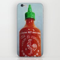 sriracha iPhone & iPod Skins featuring Sriracha Oil Painting by The GRYLLUS