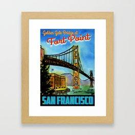 Golden Gate Bridge at Fort Point Channel Framed Art Print