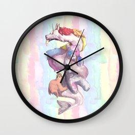Dragon Rainbow Sloth Panda Bear Wall Clock