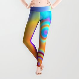 Dots in Motion (warm sunset) Leggings