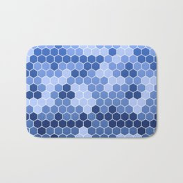 Honeycomb Blue Pattern | Geometric Shapes | Home Decor | Sapphire | For Him | For Her Bath Mat