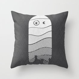 Shades of Boo... -white- Throw Pillow