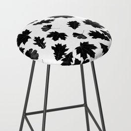 Falling Autumn Leaves in Black and White Bar Stool