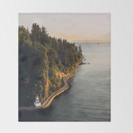 A Curvy Park - Vancouver, British Columbia, Canada Throw Blanket