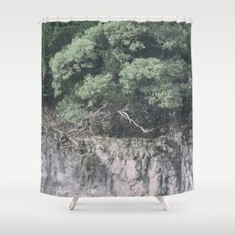 Forest and rocks Shower Curtain
