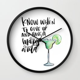 Margarita Time Wall Clock