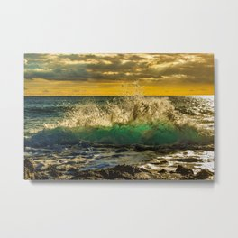 Wave Series Photograph No. 12 - Yellow Sunset Metal Print
