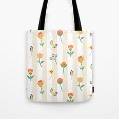Paper Cut Flowers Tote Bag