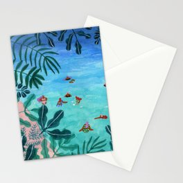 Meet me somewhere in the middle Stationery Cards