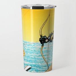 Dog Shot Computer Art Travel Mug