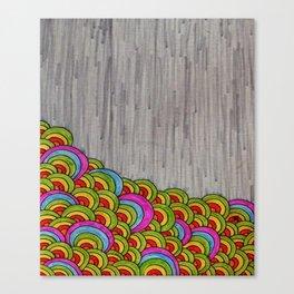 Flower Garden in Rain Canvas Print
