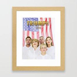 TRIUMPH 2016. Framed Art Print