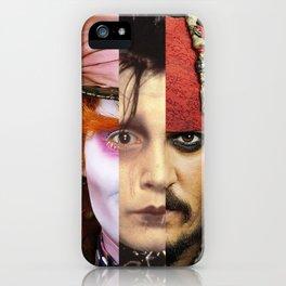 Faces Johnny Depp iPhone Case