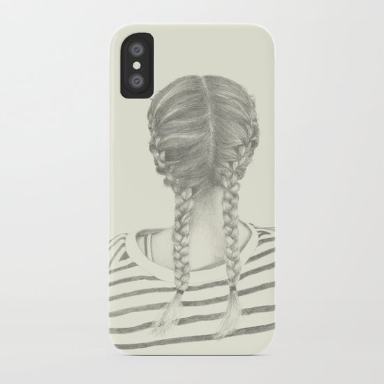 French braids 01 iPhone Case