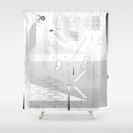 Micro White Shower Curtain