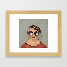 Boy With Glasses Framed Art Print