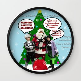 Danny Phantom snowglobe Christmas card Wall Clock