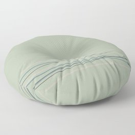 Green Scribble Line Pattern 2021 Color of the Year Aegean Teal and Accent Shades Floor Pillow