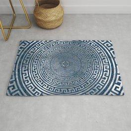 Circular Greek Meander Pattern - Greek Key Ornament Rug