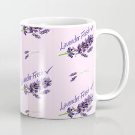 Lavender Fresh Pattern (powder pink) Coffee Mug