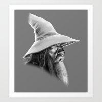 gandalf Art Prints featuring Gandalf by erintquinn
