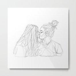 Girls kiss too Metal Print