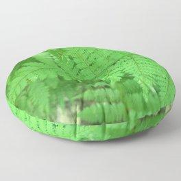 Green Fern Blurr Floor Pillow