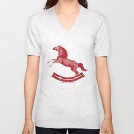 Rocking Horse Unisex V-Neck