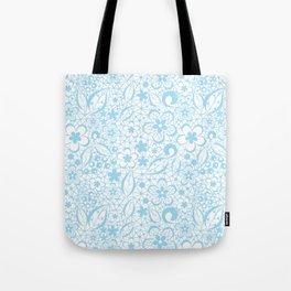 Blue , fishnet , lace Tote Bag