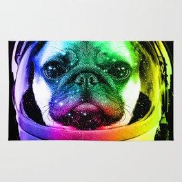 Astronaut Pug Rug