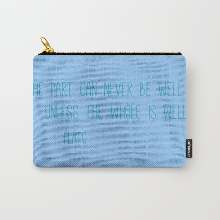 Plato Quote Carry-All Pouch