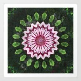 Rosas Moradas 2 Kaleidoscope 15 Art Print