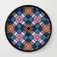 luke hemmings Wall Clocks featuring Pattern LUKE by MehrFarbeimLeben