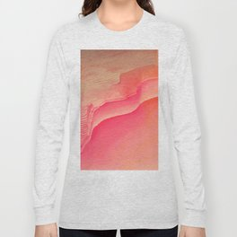 Pink Navel Long Sleeve T-shirt