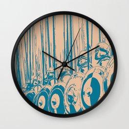 Macedonian Phalanx Wall Clock